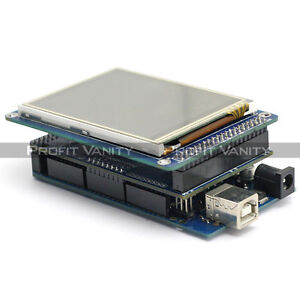 SainSmart-Mega2560-3-2-034-TFT-Touch-LCD-SD-Reader-TFT-Shield-Kit-For-Arduino