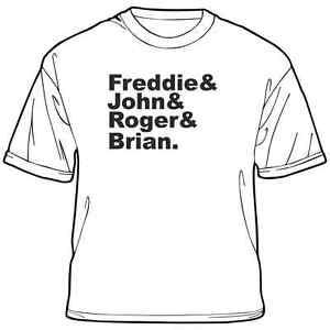 Queen-T-Shirt-Freddie-Roger-John-Brian-Music-Rock-Freddie-Mercury