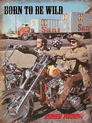 Vintage Garage 69 Easy Rider American Chopper Motorbike Small Metal Tin Sign