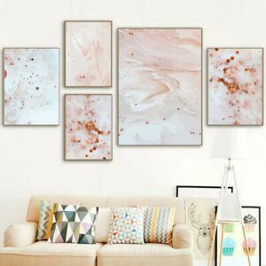Pintura Abstracta Rosa y Blanco Lona Imagen de pared de impresión arte cartel Decoración del hogar