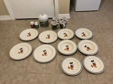 Vintage Disney Mickey Mouse Dish Set by Disney