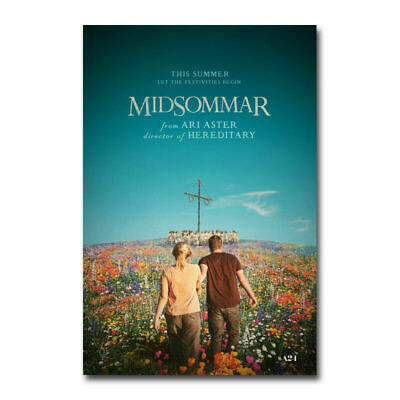 20A345 Midsommar Horror Movie Ari Aster Horror Film Art Poster Silk Deco