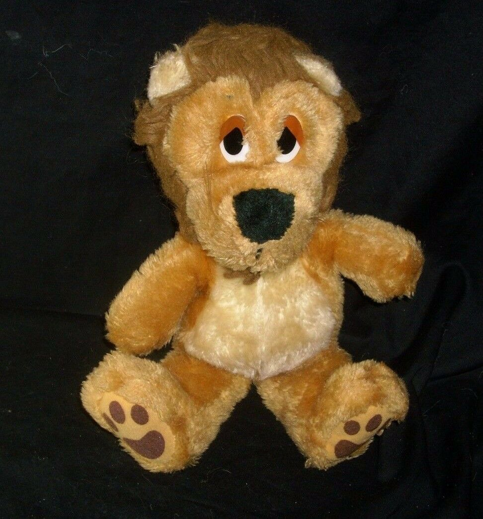 13  VINTAGE 1983 DAKIN BABY BROWN TAN LION FUN FARM STUFFED ANIMAL PLUSH TOY