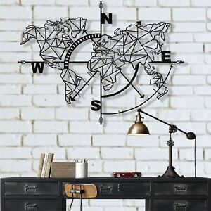 Metal World Map Metal Wall Decor Metal Art Wall Decoration Home Decor Sign 5140 Ebay
