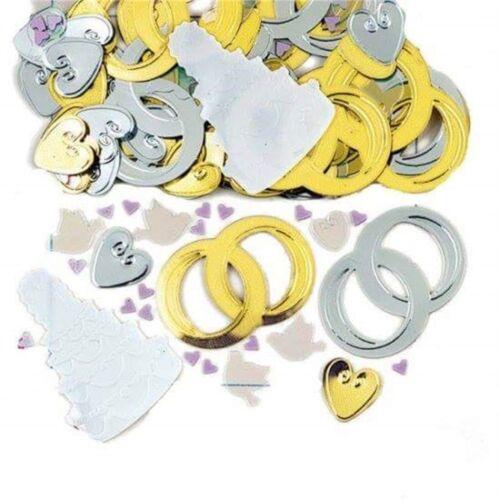 Amscan 9900848 14 g mariage cloches en relief métallique Confettis-Party New 14