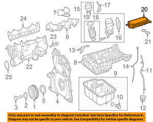 mercedes oem 10 17 sprinter 2500 engine oil cooler 6421800165 ebayimage is loading mercedes oem 10 17 sprinter 2500 engine oil
