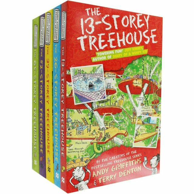Andy Griffiths Treehouse Books Series Collection 5 Books Set 13-Storey NEW Pack