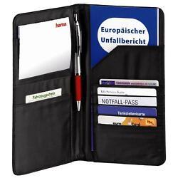 Hama Mappe für Fahrzeugpapiere (Auto Organizer für Reisedokumente, Kreditkarten,