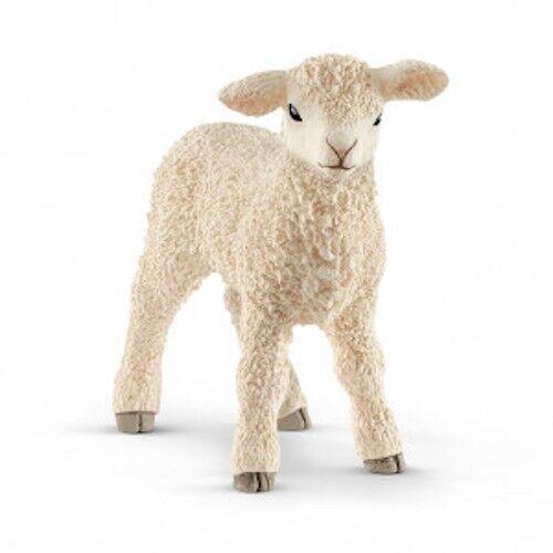 AGNELLO animali in resina SCHLEICH miniature 13883 Farm World LAMB età 3+
