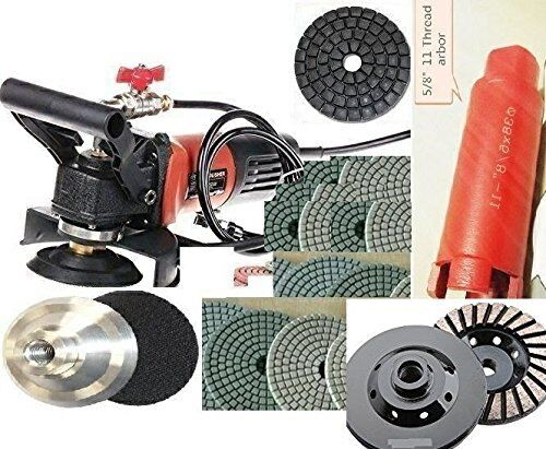 """Wet Polisher Grinder 1 1//2/"""" core bit hole saw 29 Pad Grinding cup stone concrete"""