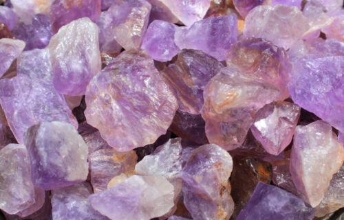 "1 Large 1/"" Brazil Natural Gemstone Crystal Healing Rock 2/"" Rough Amethyst"