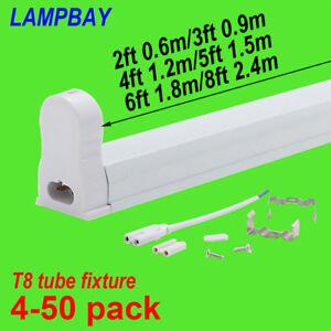 Details About Led Tube Light Fixture Linkable G13 Bulb Housing T8 Bar Lamp Holder Fittings