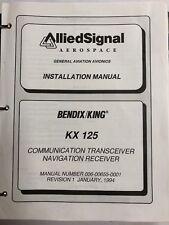 bendix/king kx 125 communication transceiver navigation receiver 1994  original