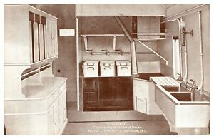 Antique-WW1-military-printed-postcard-Kitchen-Continental-Ambulance-Train-GWR