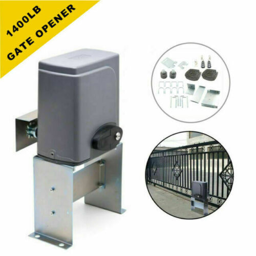 Neufday Sliding Gate Opener,Automatic Chain Sliding Gate Opener Roller Gate Opener with Infrared Sensor 0-1700lb