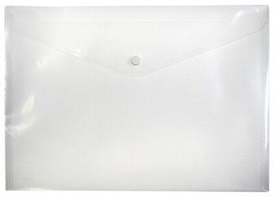 10x Dokumententaschen Umschläge Klettverschluss Abheftrand A5 rot transparent