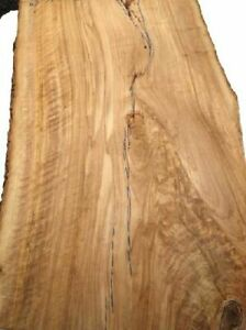 2x Olives Wood Board Olive Wood Tree Slice 69x37/46cm 16/17mm