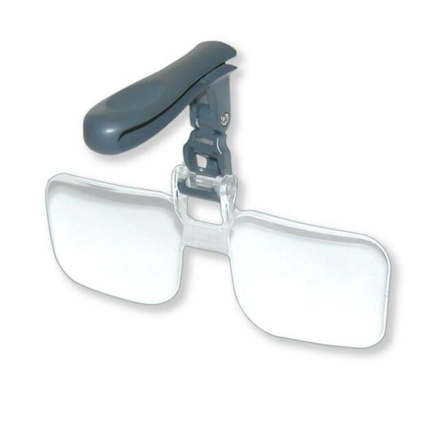 Clip-on Eye Glasses Binocular Magnifier Eyeglasses With 3 Lens 1.5X,2.5X,3.5X DS