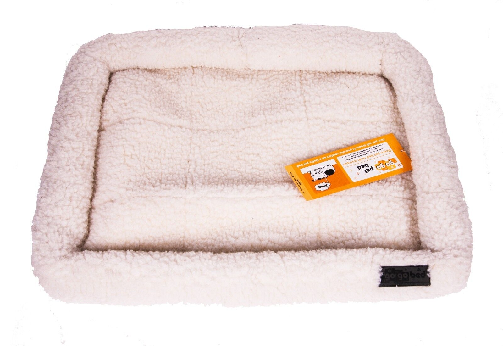 GoGo Thick and Comfy Fleece Dog Bed Puppy Bed - Weiß - XX-Large - 51  x 33