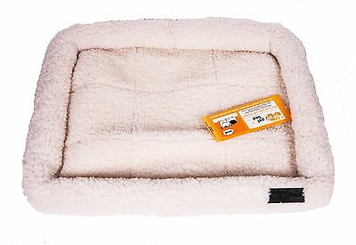 "GoGo Thick and Comfy Fleece Dog Bed Puppy Bed - White - Medium - 31"" x 21"""