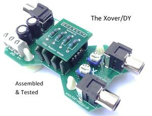 The-Xover-DY-1-channel-12dB-Octave-active-crossover-filter-VARIOUS-OPTIONS