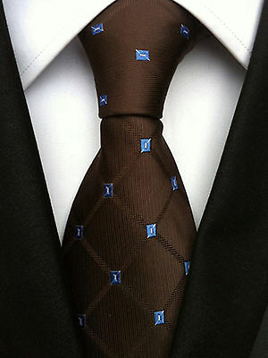 (nt115)silk Brown Men Necktie Office Business Party Wedding Formal Tie For Men Ideales Geschenk FüR Alle Gelegenheiten