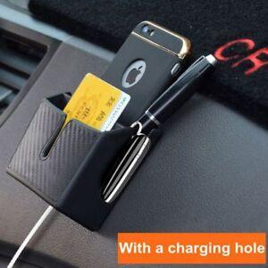 Schwarz-Fahrzeug-Organizer-Handyhalter-Innenzubehoer-Auto-Aufbewahrungsbox-Schoen