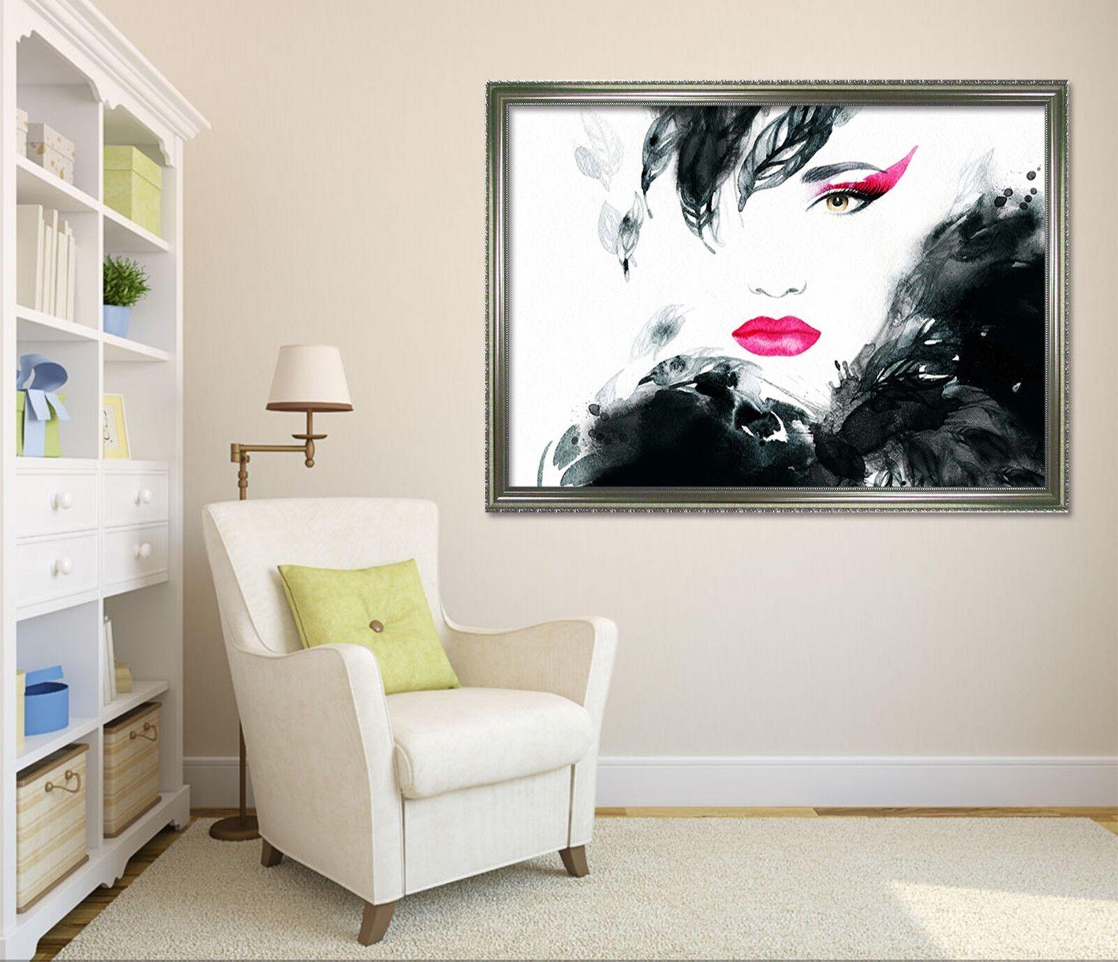 3D rot Lips Woman 6 Framed Poster Home Decor Drucken Painting Kunst AJ WandPapier
