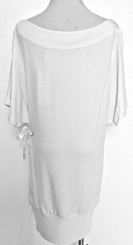 Blanc  avec strass or Taille  XS Femme Star Chic Easy Couture Robe XL