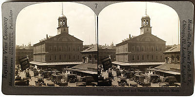 MA from 1910's Education Set #8 B Keystone Stereoview an Aerial View of Boston