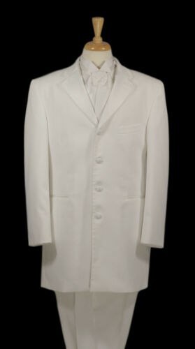 "All Sizes Men/'s After Six /""Zenith/"" White Frock Tuxedo Coat"