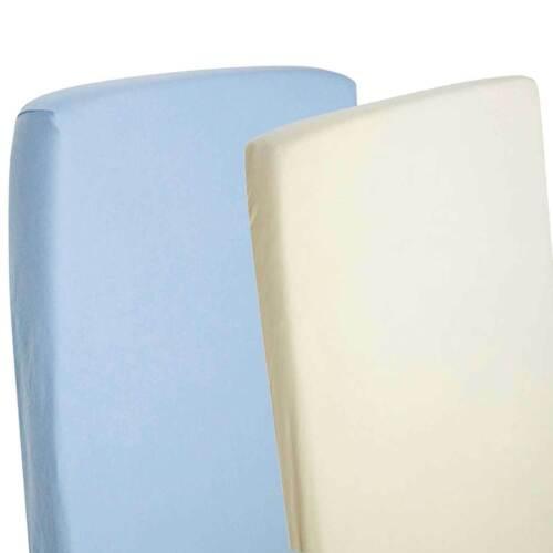 Cuna 2x Jersey Sábanas 100/% Algodón Cochecito 40x90cm Azul//Crema