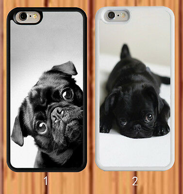Black Pug for iPhone And Samsung Galaxy Models Case