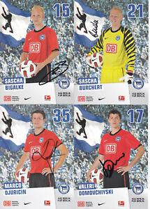 Hertha BSC Berlin - Saison 2010/11, 8 Autogrammkarten mit Originalunterschrift!