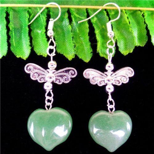 1 Paire Divers Multicolore Mixed Gemstone verre Amour Coeur Pendentif Boucles D/'oreilles HH6399