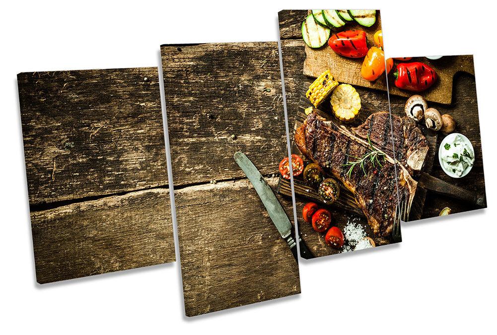 Steak House Cibo Cucina incorniciato Multi stampa art. a muro