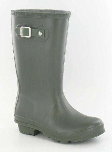 Girls//Boys Dark Green Colour Rubber Wellinton Boots X1167