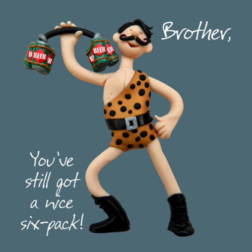 Brother Six-Pack Birthday Greeting Card One Lump or Two Holy Mackerel Cards
