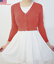 Cropped-3-4-Sleeve-Fitted-V-Neck-Soft-Knit-Vintage-Dress-Basic-Cardigan-Sweater