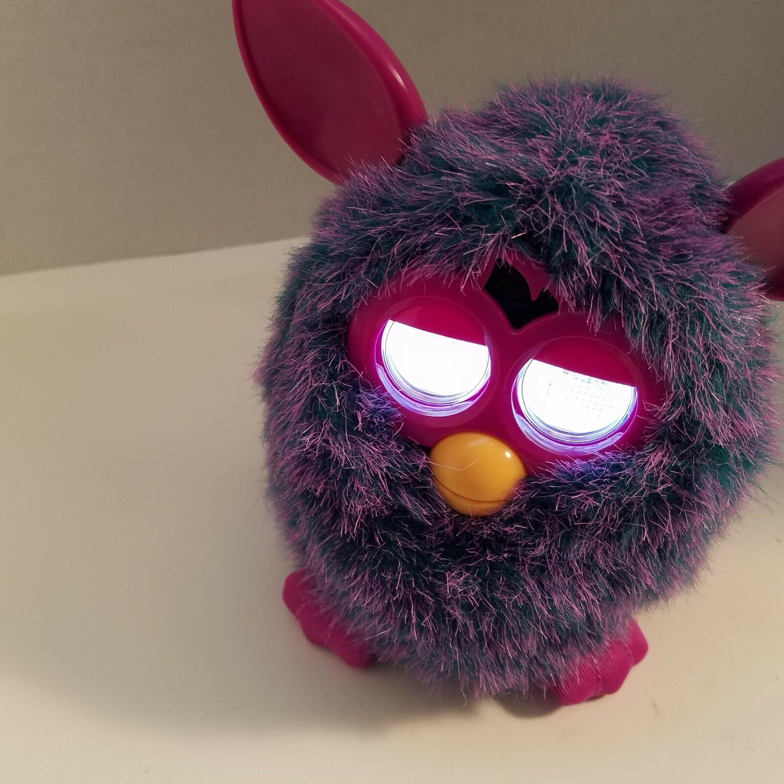 Furby  2012 Pink Purple Interactive Toy Eyes Light Up Tested Works Video Below