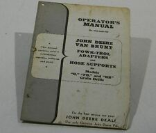 Operators Manual John Deere Van Brunt Powr Trol Adapters And Hose Supports