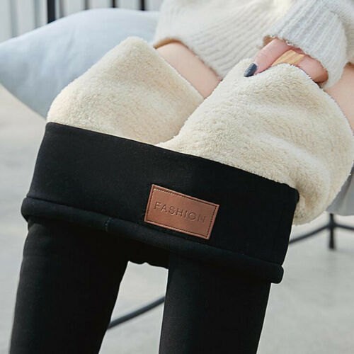 NEW Womens Winter Pants Thick Warm Fleece Lined Thermal Stretchy Leggings Pants