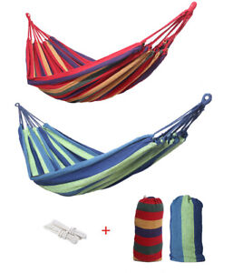 Outdoor Double 2 Person Cotton Camping Hammock Bed Swing Hanging Sleeping Tent