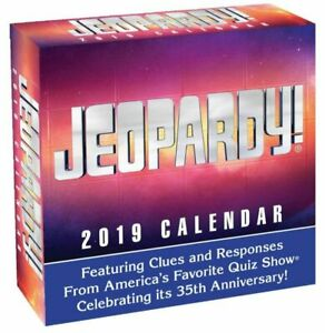 Jeopardy! 2019 Day-To-Day Calendar by Sony (2018, Calendar)