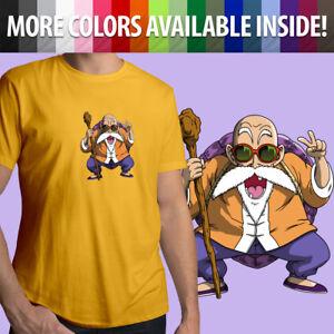 Unisex-Mens-Tee-Crew-T-Shirt-Gift-Shirts-Anime-Master-Roshi-Turtle-Hermit-Anime