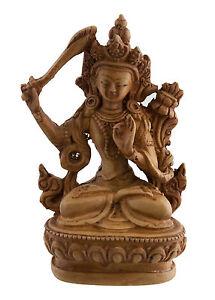 Manjushri-Soprammobile-Tibetano-IN-Resina-Budda-10-CM-Marrone-Chiaro-6042-Promo