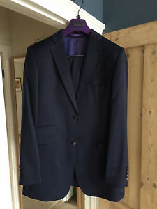 Ted Baker Endurance Two Piece Suit Navy Pinstripe Size 40l Ebay