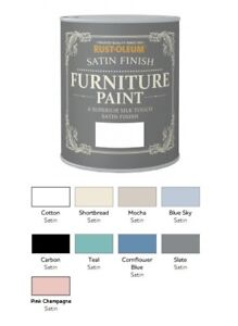 Image Is Loading Rust Oleum Satin Furniture Paint 750ml 125ml Chic