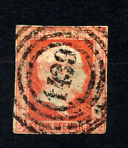GERMANY-PRUSSIA-Yv-2-used-cachet-1439-VF