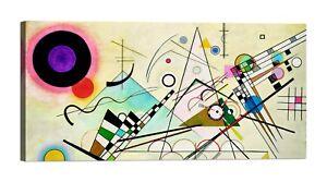 WASSILY-KANDINSKY-Composition-VIII-Stampa-su-tela-Canvas-effetto-dipinto